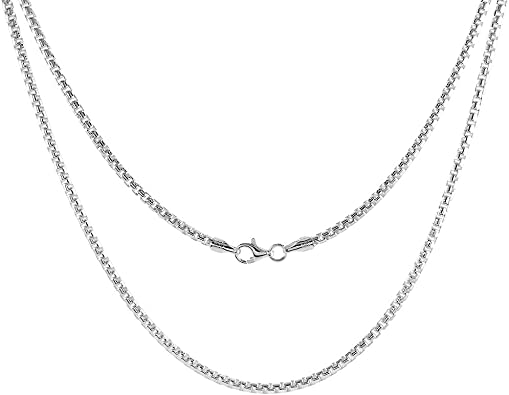 Sizes 7-30 inch Sterling Silver Round Box Chain Necklaces /& Bracelets 5mm Heavy Mens Nickel Free Italy