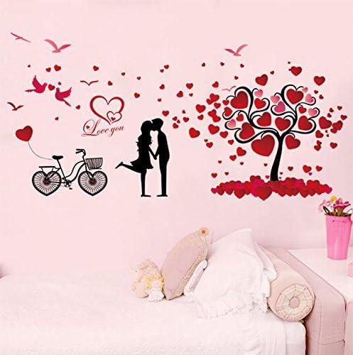 Chaud Amour Dessin Animé Couples Murale Chambre à Coucher
