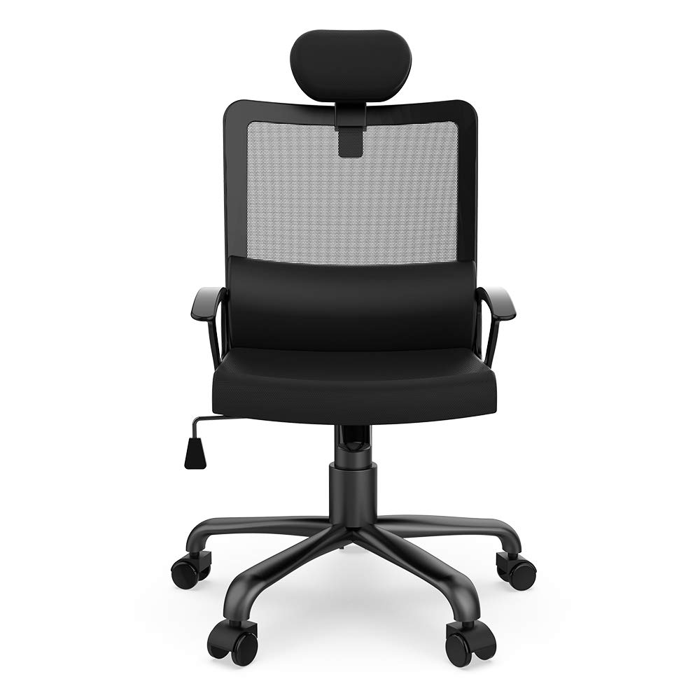 Smugdesk Ergonomic Office Chair High Back Mesh Office Chair Adjustable Headrest Computer Desk Chair for Lumbar Support by Smugdesk (Image #8)