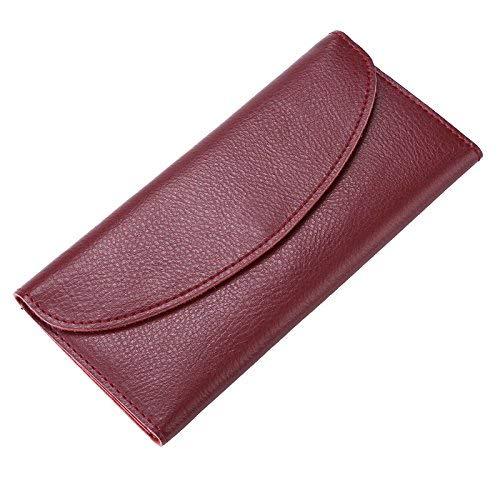 Bordeauxrood Soft Purse Portemonnee Super Slanke Dunne Ontwerp Met Split Dames Handtas Portemonnees Tas Voor Handbag (color   bluew)