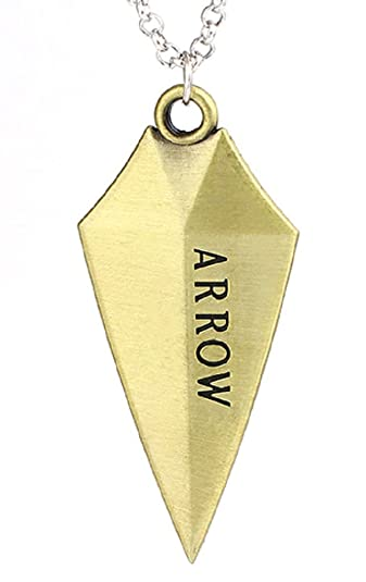 Arrow Symbol Necklace With Arrow Written In Both Sides Bronze Color