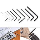 dezirZJjx Guitar Wrenches, 9Pcs Guitar Bass Neck Bridge Screw Truss Rod Adjustment Hexagonal Wrench Set