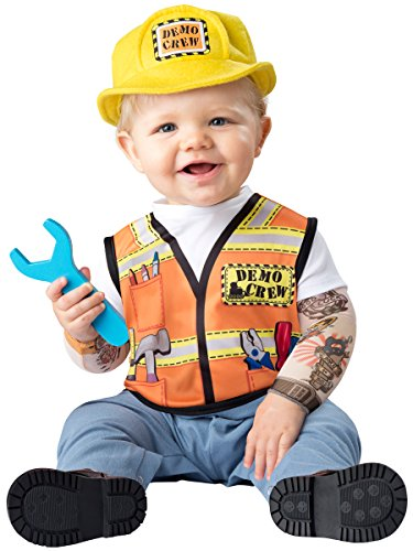 [Fun World Baby Boys' Demo Crew Costume, Multi, S] (Baby Wrecking Ball Costume)