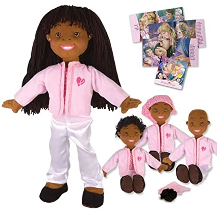 Kimmie Cares Doll and Book Set - Allisha