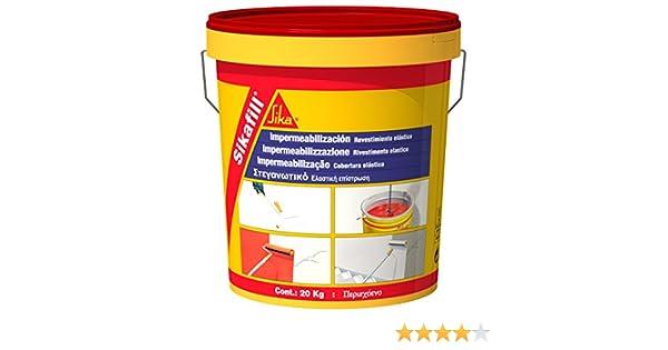 Sika M289996 - Impermeabilizante sikafill rojo teja 5kg-93687: Amazon.es: Bricolaje y herramientas