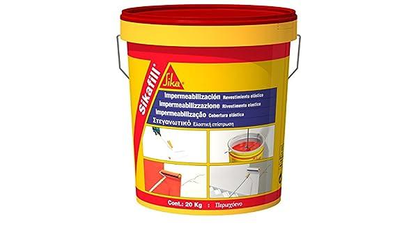Sika M289936 - Impermeabilizante sikafill rojo 5kg rojo: Amazon.es: Bricolaje y herramientas
