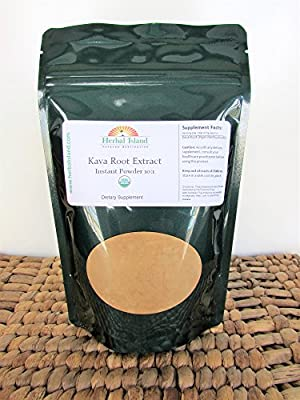 Kava Kava Root Instant Extract - Organic Powder - 8oz Bag (Fiji Grown) - Free Shipping