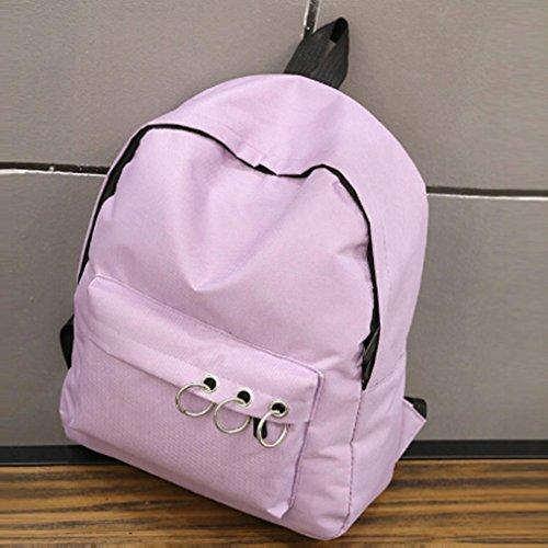 Sonnena - Bolso mochila  de Lona para mujer Rosa rosa morado