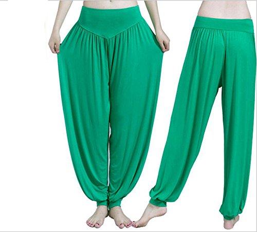 Helisopus Women's Modal Cotton Soft Yoga Sports Dance Pilates Harem Pants Mauve Stone
