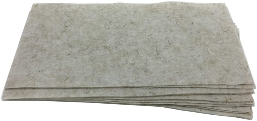 """Biostrate Hydroponic Growing Mats - Pack of 10 - For 10"""" x 20"""" Germination Trays - Sure Biodegradable Felt Pads to Grow Microgreens, Wheatgrfass, More"""