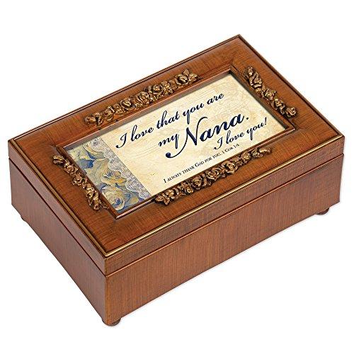 Nana Rich Walnut Finish Petite Jewelry Music Box - Plays How Great Thou ()