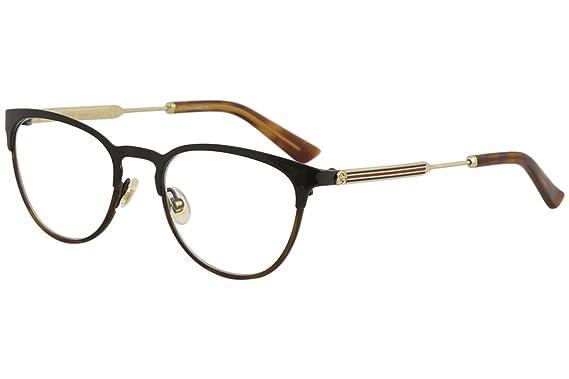 Amazon.com: Eyeglasses Gucci GG 0134 O- 003 BLACK/GOLD: Clothing
