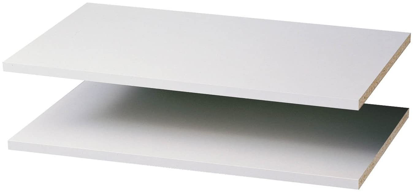 B0002YW25A Easy Track RS1423 24-Inch Closet Shelf, White, 2-Pack 51k8vCjfhhS