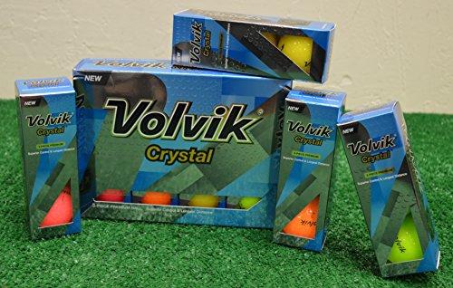 2 Dozen Volvik Crystal Mixed Color Golf Balls - New in Box