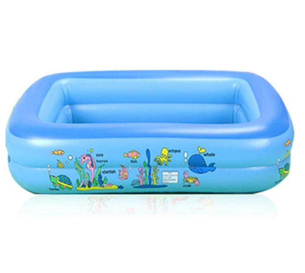 CQYGZHL Aufblasbare Badewanne, Kinderschwimmbecken Babybadewanne Verdickung zusammenklappbar Badewanne Verdickung aus Kunststoff Ozean Ball Pool Badewanne (größe   155  105  50cm)