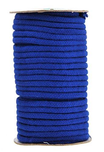 (Mandala Crafts Soft Drawstring Replacement Rope Upholstery Crochet Macramé Cotton Welt Trim Piping Cord (Royal Blue, 5mm) )