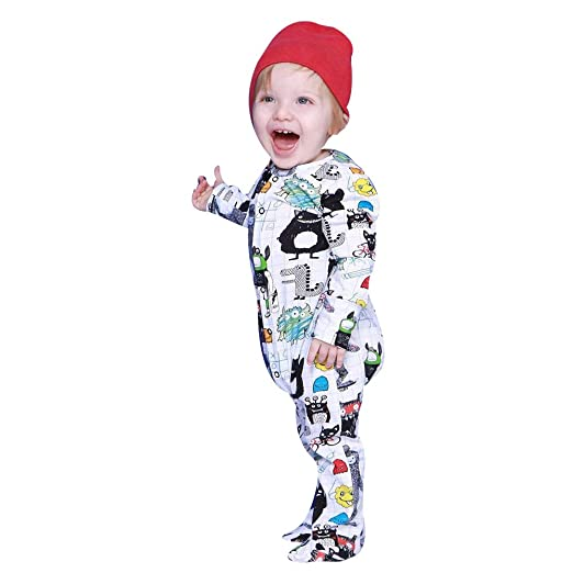 129f72a5bae Pumsun ❤ Newborn Infant Baby Girl Boy Long Sleeve Cartoon Romper Jumpsuit  Clothes Outfits (