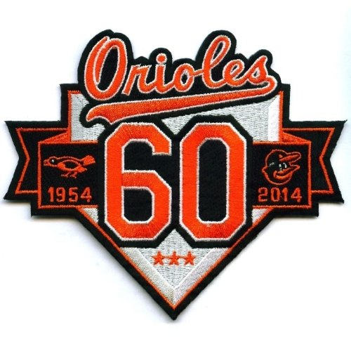 2014 Baltimore Orioles 60th Anniversary Season Jersey Sleeve Patch (1954)