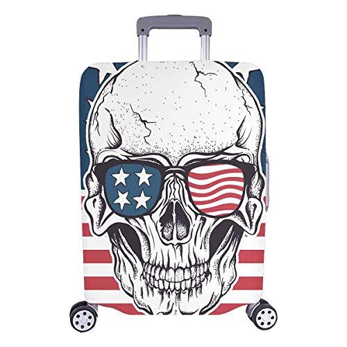 InterestPrint Cool Sugar Skull on American Flag Travel Lugga