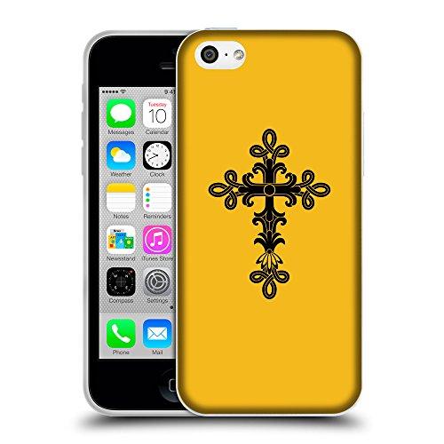 GoGoMobile Coque de Protection TPU Silicone Case pour // Q07890602 Christian Cross 14 ambre // Apple iPhone 5C