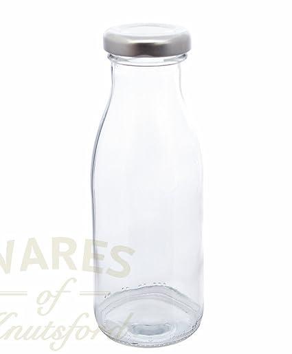 Unidades de cristal 24 x 250 ml botellas de cierre de plateado para troquel de manualidades