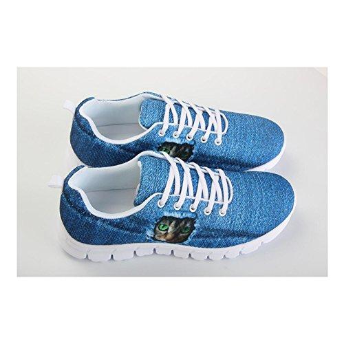 Abbracci Idea Occhi Di Gatto Modello Carino Donna Sneakers Casual Comfort Scarpe Da Corsa Gatto 5