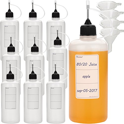 HUIZHU 10pcs Empty 120ml PE Thick Tip Needle Bottle 14g Tip Liquid dispensor Bottle Liquid Refill Bottle Perfume Bottles Empty lliquid applicator Bottle Liquid dispensor Ink Bottle(10, 120ml)