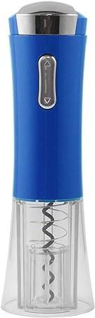 Maxell Power CE SACACORCHOS ELECTRICO Pilas ABREBOTELLAS AUTOMATICO Cortador Etiquetas Colores Garantía (Azul)