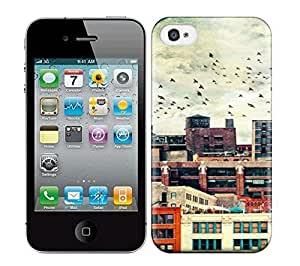 Best Power(Tm) HD Colorful Painted Watercolor High Rise Buildings Hard Phone Case For Iphone 4/4S