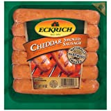 ECKRICH SMOKED SAUSAGE LINK CHEDDAR 14 OZ PACK OF 4
