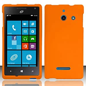 [Windowcell] Huawei W1 H883g (Straightalk) Rubberized Cover - Orange Rp