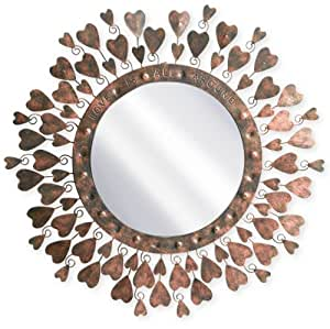 Grasslands Road Love is All Around Metal Mirror, 14-Inch