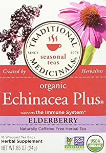 Traditional Medicinals Teas Blends Echinacea Elder Organic Blend's Tea