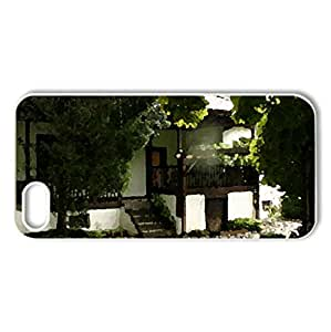 Kalofer town - Case Cover for iPhone 5 and 5S (Houses Series, Watercolor style, White)