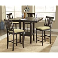 Hillsdale Arcadia 5-Piece Counter Height Dining Set w/Slat Back Stools