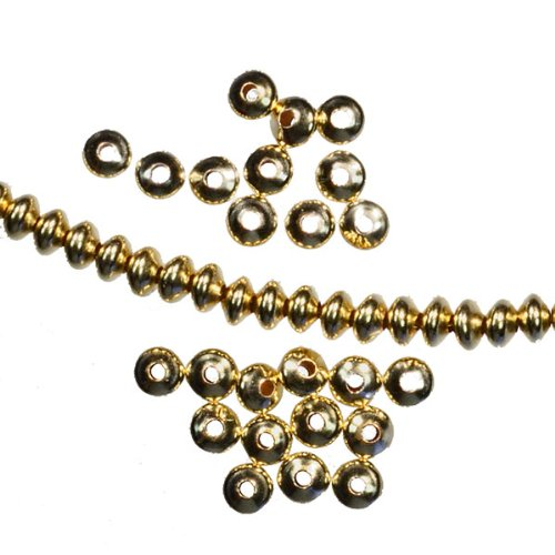 Spacer 14kt Gold Filled Beads USA Made 14/20 Saucer 3.5mm (Qty-24) ()