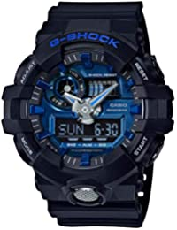 Mens G Shock GA710-1A2 Black Rubber Quartz Sport Watch