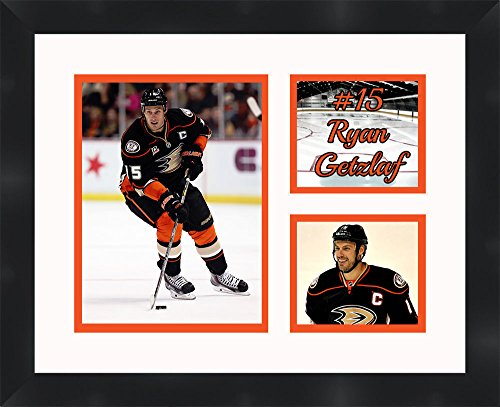 Frames by Mail Ryan Getzlaf 11 x 14 Framed Collage Photos Anaheim Ducks