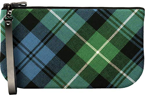 Small Leather Clutch Bag With Lamont Tartan Large Enough to Fit iPad Mini