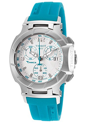 (Tissot Women's T-Race Chronograph White Dial Blue Rubber)