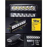 HomDSim JEEP Off-road Car Auto LED Work Light Lamp Bar Beam Spot Flood Combo Alloy Offroad Driving Refit 18W 30W 100W 150W 120W 180W 108W (18W)