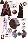 "Star Wars FATHEAD Set of 17 Vinyl Wall Graphics Re-Usable Decals Darth Vader, Emperor Palpatine, Stormtrooper, Death Star, Tie Fighter 7"" INCH EACH"