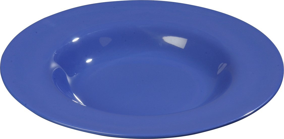 Carlisle 4303014 Durus Melamine Chef Salad / Pasta Bowl, 12'', Ocean Blue (Pack of 12)