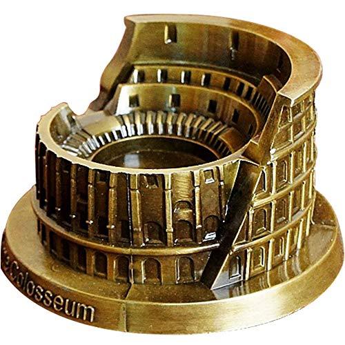 SuperbUla Zinc Alloy Roman Colosseum Model Cigaratte Ashtray Vintage Building Statue for Home Decor