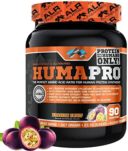 ALR Industries Humapro, Protein Matrix Blend, Formulated for Humans, Amino Acids, Lean Muscle, Vegan Friendly, Passion Fruit, 667 Grams