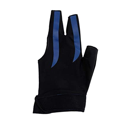 1 pc Cue Billiard Pool Shooters 3 Fingers Gloves Black for Nylon