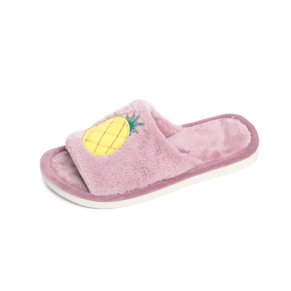 NIGHT WALL Bequemer Slip-on Winter Winter Winter Winter niedliche warme Innen Wort Wassermelone Slipperdamen Baumwollschuhe 2 41House Schuhe Indoor & Outdoor 2a9399