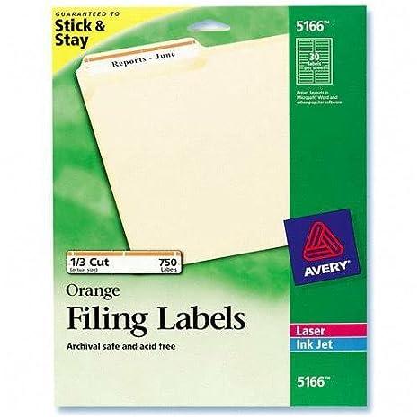 Amazon Ave5166 Avery Permanent Adhesive Laserinkjet File