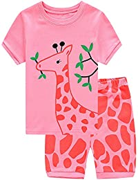 Deer Little Girls' Short Pajamas 100% Cotton Clothes 6M-...