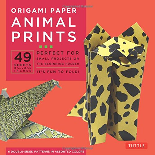 Origami Paper - Animal Prints - 8 1/4